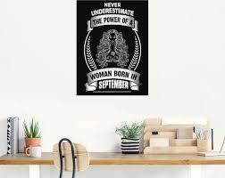 artland wandbild sternzeichen mottospruch september sprüche texte 1 st in vielen größen produktarten alubild outdoorbild für den