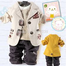 Best Retail Selling Childrens Clothing Sets Cotton Coat T Shirt Pants 3pcs Baby Boy Kids Suit Jacket Freeshiping
