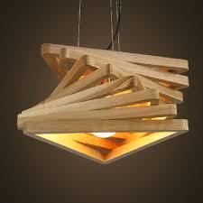 Creative Design Light Spiral Wood Pendant Dinning Hall Hanging Lamps Wooden Rustic Lighting Fixture
