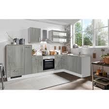 menke white premium winkelküche 310 x 170 cm betonoptik weiß
