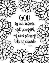Christian Coloring Pages Free Printable Bible Verse With Bursting Blossoms Sheets