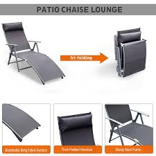 Details About Steel Sling Fabric Outdoor Folding Chaise Lounge Chair  Recliner - Grey K5C3 Marvelous Patio Lounge Folding Chair Outdoor Designs Image Outsunny 3position Portable Recling Beach Chaise Cream White Cad 11999 Heavyduty Adjustable Kingcamp 3 Positions Camping Cot Foldable Deluxe Zero Gravity With Awning Table And Drink Holder Lounge Chair Outdoor Folding Foldiseloungechair Living Meijer Grocery Pharmacy Home More Fresh Ocean City Rehoboth Rentals Rental Fniture Covered All Weather Garden Oasis Harrison Matching Padded Sling Modway Chairs On Sale Eei3301whicha Perspective Cushion Only Only 45780 At Contemporary Target Design Ideas