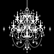 Crystal Chandelier Silhouette Clipart