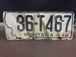 1946 MONTANA TRUCK License Plate Tag Original - $29.99 | PicClick