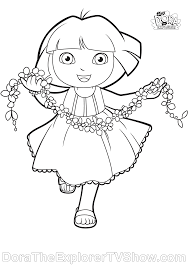 Dora Coloring Pages At