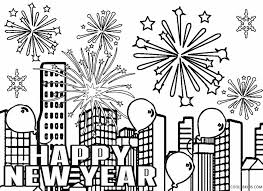 Free Printable New Years Fireworks Coloring Pages