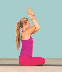 Seated Eagle Pose 3 Yoga