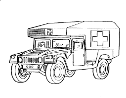 Download Coloring Pages Army Truck With