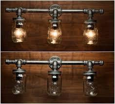 3 Mason Jar Light Pipe Vanity By EyeKandyPipeWorks