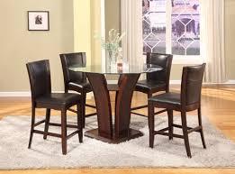 Cascade Espresso Pub Style Dining Room Table Set
