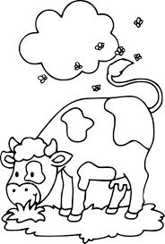 √ Coloriage Vache Imprimer
