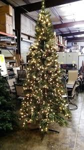 Lit Pine Quick Set Artificial Tree W Clear Lights Up Christmas 75 Ft Harrison Fir 9 Off