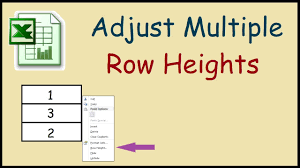 How To Adjust Multiple Row Heights In Excel 2010 YouTube