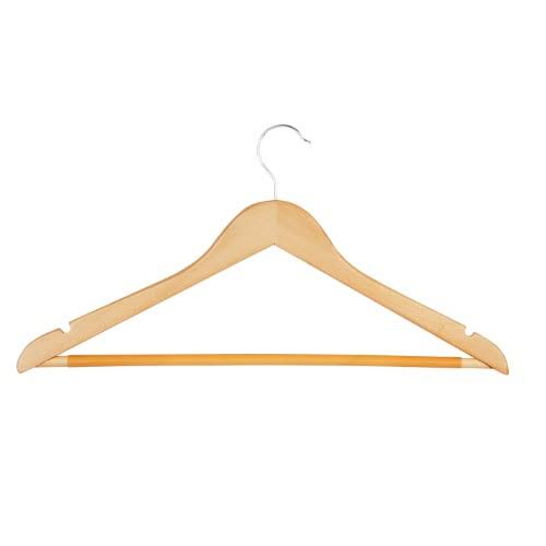 Honey Can Do Hng 01206 Maple Suit Hanger with Non Slip Bar - 4ct