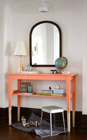 Ikea Console Painted With The Color Juicy Passion Fruit From Behr Beautiful Paint