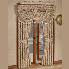 J Queen Brianna Curtains by Serenity Light Gold Ogee Medallion Window Treatment By J Queen New