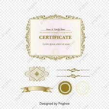 Vector Patrón Clásico Certificado Certificado Carta De