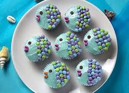 meerjungfrau kuchen tipp fisch cupcakes meerjungfrau