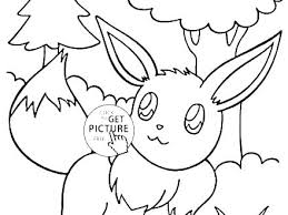 Eevee Coloring Sheets Pages Es To Print For Kids Characters Printable Evolution Colouring