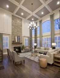 100 Interior Design High Ceilings Neutral Living Room With Coffered Ceiling House