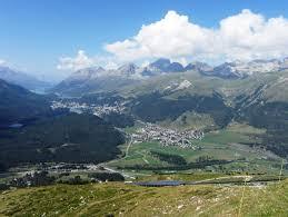 100 Muottas Muragl Bernina Valley View Of Celerina And St Moritz GR