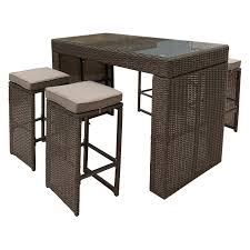 5 Piece Bar Height Patio Dining Set by Pangea Home Oasis Wicker 5 Piece Bar Height Patio Dining Set