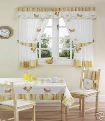Amazon Yellow Kitchen Curtains by Chickens Kitchen Curtains White Yellow 46x54 Inc Tie Backs Amazon
