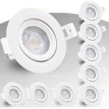 beleuchtung 9x led einbauleuchte ip44 badezimmer led