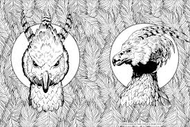 Were Loving Geeky Coloring Books For Adults Like This Harry Potter Mythical Creatures