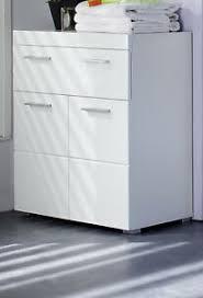 details zu badschrank kommode weiß hochglanz unterschrank 73x 80 cm badezimmer möbel amanda