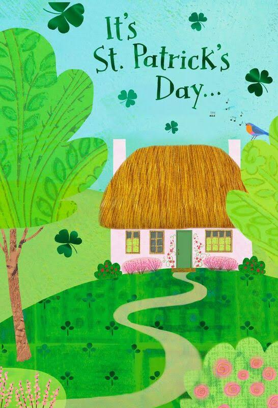 Pink Cottage St. Patrick's Day Cards, Pack of 6