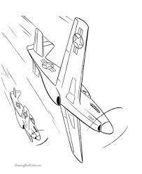 Free Printable Jet Coloring Page