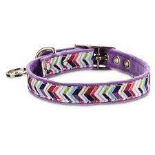 Luckys Bed And Biscuit by Bond U0026 Co Purple Zigzag Collar