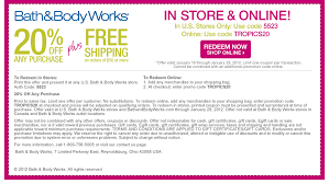 Retail Round Up Printable Coupons For Bath Body Works Old Navy