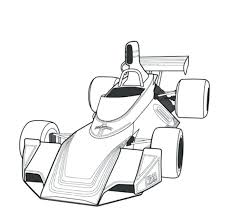 Free Coloring Pages Disney Pixar Cars For Fittipaldi F5a F1 Classic Race