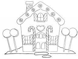 Printable Gingerbread House Coloring Pages