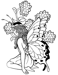Beautifull Fairy Coloring Pages For Adults Printable Free
