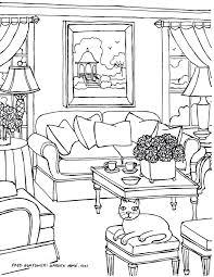 Drawn Sofa Coloring 14