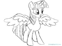 Twilight Sparkle Coloring Pages My Little Pony Friendship Is Magic