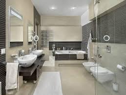 wohnideen badezimmer ohne fenster beige braune fliesen