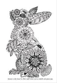 Rabbit Colouring Page Brysons Book Art Therapy