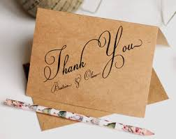 Rustic Thank You Cards Wedding Notes Personalized