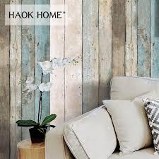 haokhome vintage holz tapete für wände 3d 0 53 m 10m rollen wandbild kontaktieren papier wohnzimmer küche bad wohnkultur 0 45 6 m