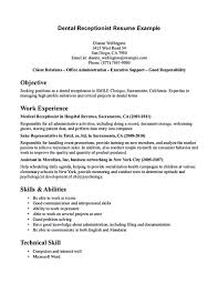 Best Ideas Of Objective For Resume In Medical Field Nice Receptionist Template The Awesome Web