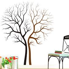 two naked trees wall art mural decal sticker living room bedroom