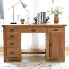bureau avec tiroir table meubles d étude blanc chêne en bois massif bureau ordinateur
