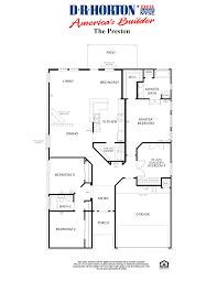 Centex Floor Plans 2001 by Meridian Remington Park Ponder Texas Dr Horton Dr Horton Home