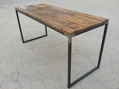 Reclaimed Wood Desk Top Office Furniture Modern Custom Custom Made Modern Industrial Dining Table Desk Reclaimed Wood Top