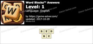 Word Blocks™ Answers Game Solver