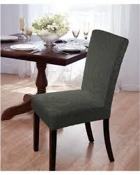 Green Hunter Velvet Damask Dining Room Chair Cover